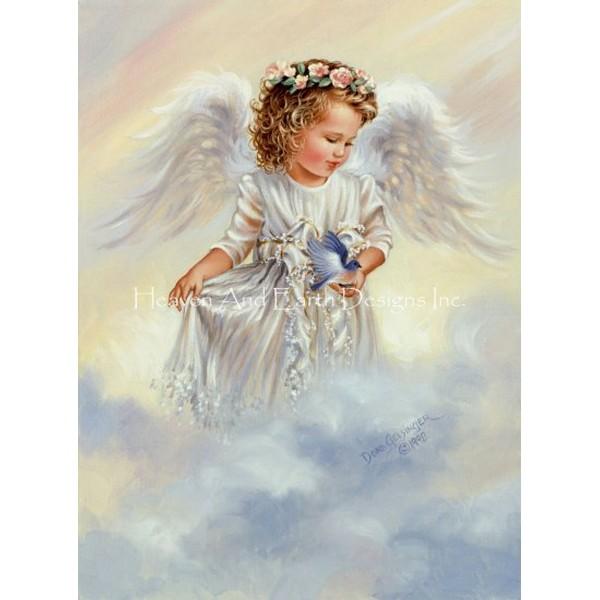 画像1: クロスステッチ図案 Gentle Guardian-HAED(Heaven and Earth Designs) (1)