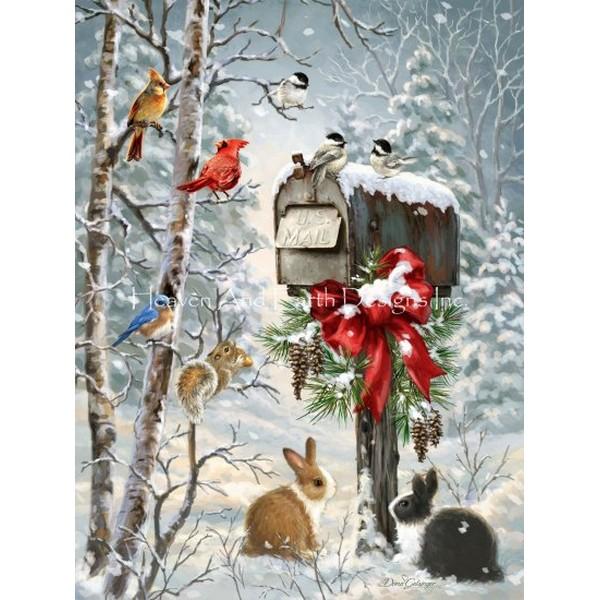 画像1: クロスステッチ図案 Christmas Tidings-HAED(Heaven and Earth Designs) (1)