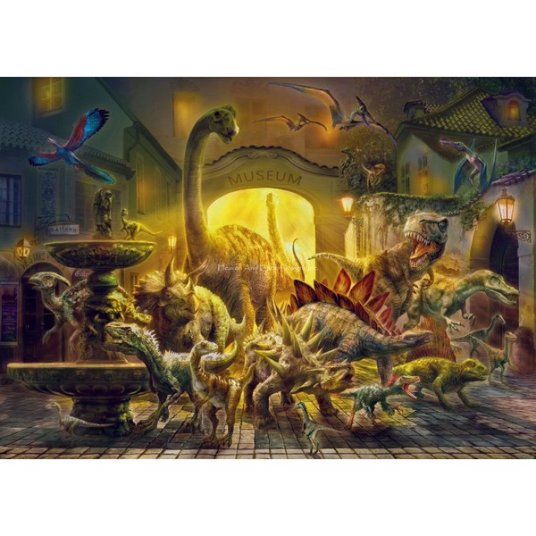 画像1: クロスステッチ図案 Dinosaurs Museum-HAED(Heaven and Earth Designs) (1)