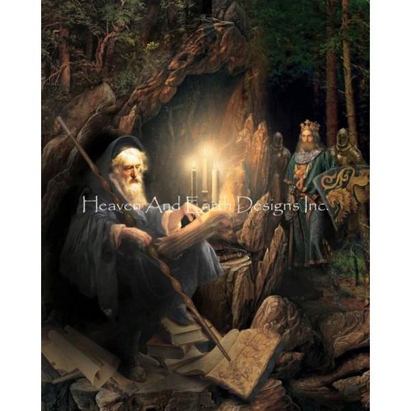 画像1: クロスステッチ図案  King Arthur Seeketh Merlin's Advice - HAED(Heaven and Earth Designs) (1)