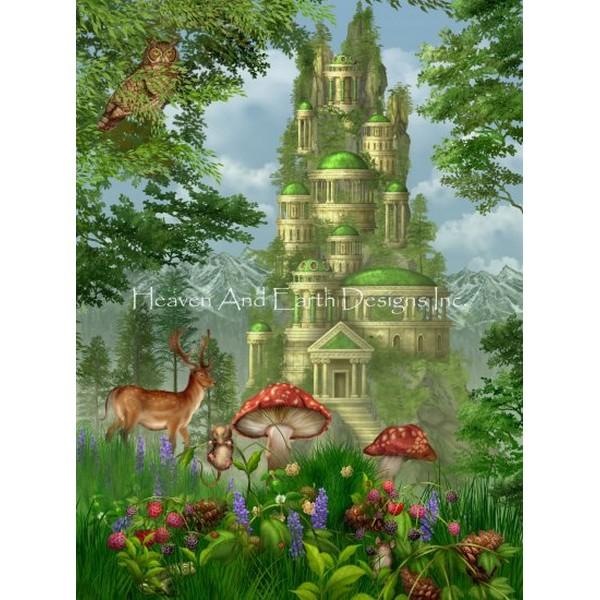画像1: クロスステッチ図案Supersized City of Coins Max Colors-HAED(Heaven and Earth Designs) (1)