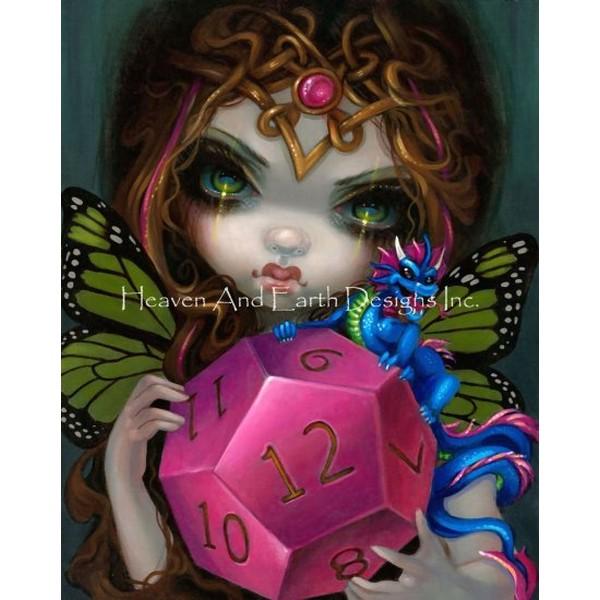 画像1: クロスステッチ図案Mini 12 Sided Dice Fairy-HAED(Heaven and Earth Designs) (1)