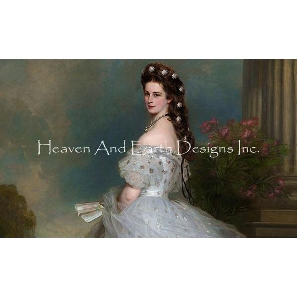 画像1: クロスステッチ図案  Empress Elizabeth - HAED(Heaven and Earth Designs) (1)