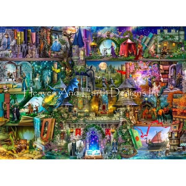 画像1: クロスステッチ図案Supersized Once Upon A Fairytale Max Colors-HAED(Heaven and Earth Designs) (1)