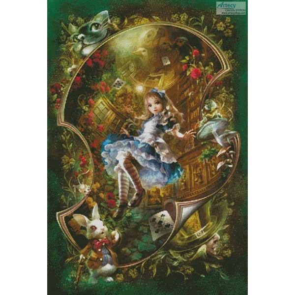 画像1: クロスステッチ図案 Mini Dear Alice 不思議の国のアリス (1)