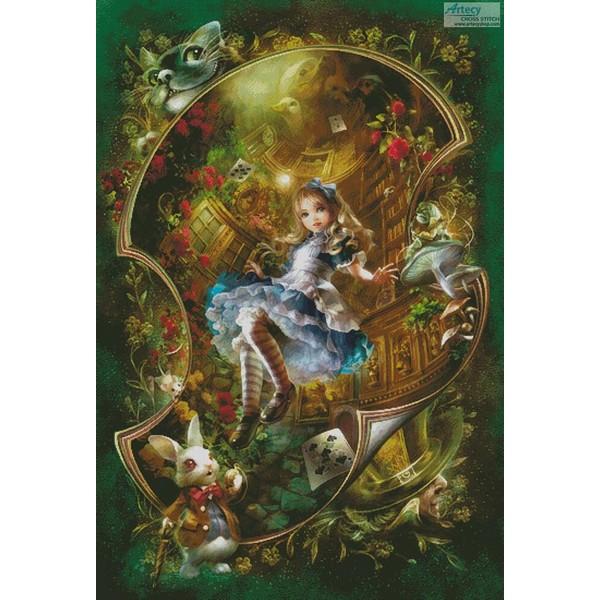 画像1: クロスステッチ図案 Dear Alice (Large) - Artecy 不思議の国のアリス (1)