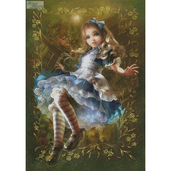 画像1: クロスステッチ図案 Mini Floating Alice 不思議の国のアリス (1)