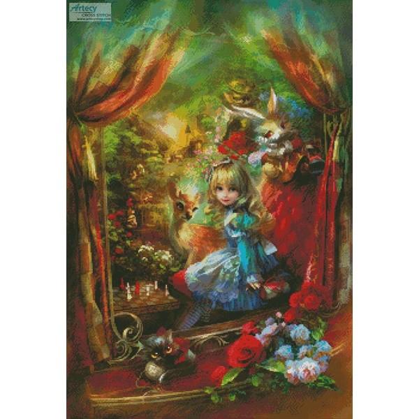 画像1: クロスステッチキットMini Alice Locomotion(アリス)18ct-Artecy (1)