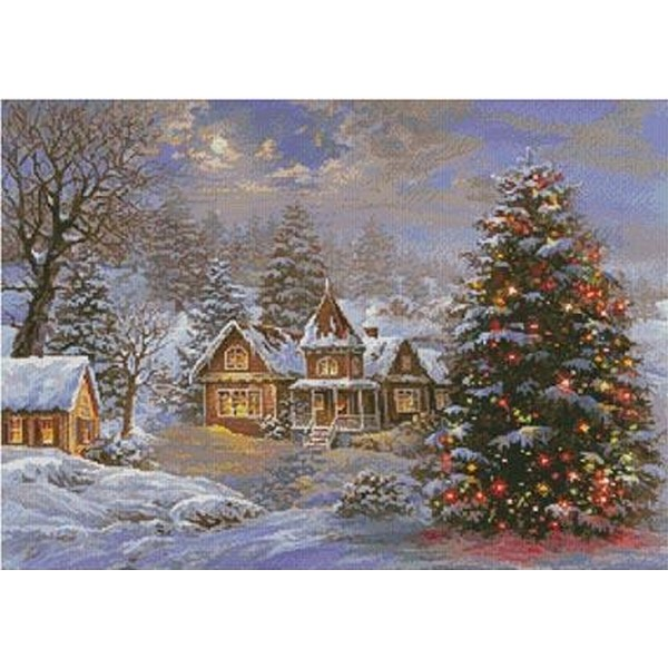 画像1: クロスステッチキットHappy Holidays Painting 14ctアイーダキット-Artecy (1)