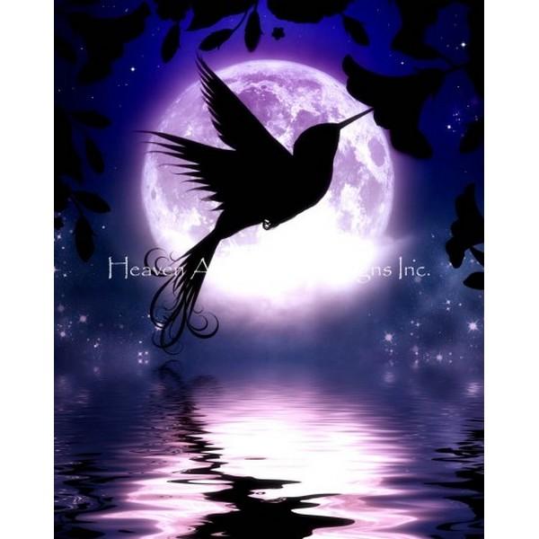 画像1: クロスステッチ図案Mini Moon Lit Hummingbird-HAED(Heaven and Earth Designs) (1)