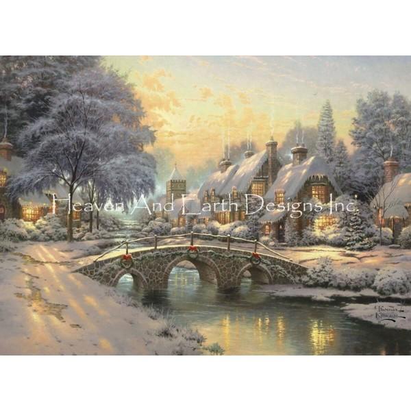 画像1: クロスステッチ図案  Cobblestone Christmas - HAED(Heaven and Earth Designs) (1)