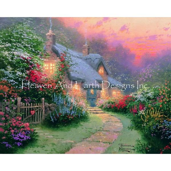 画像1: クロスステッチ図案  Glory of Evening - HAED(Heaven and Earth Designs) (1)