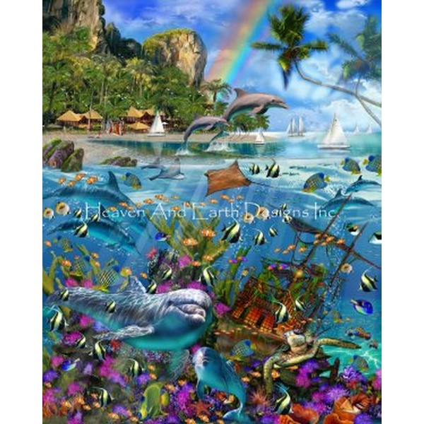 画像1: クロスステッチ図案 Tropical Treasures Color Expansion-HAED(Heaven and Earth Designs) (1)