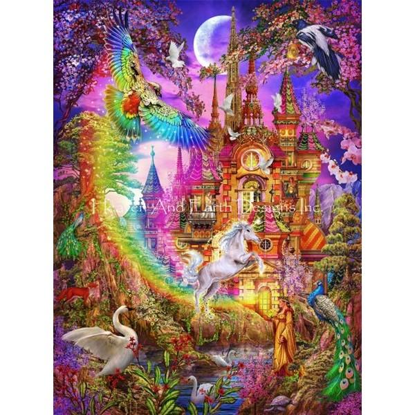 画像1: クロスステッチ図案  Rainbow Castle Max Colors-HAED(Heaven and Earth Designs) (1)