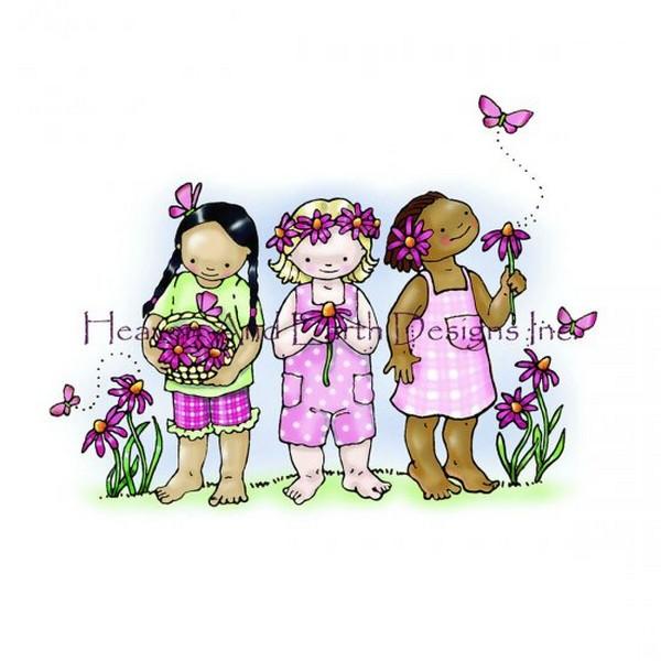 画像1: クロスステッチ図案  Butterfly Girls - HAED(Heaven and Earth Designs) (1)