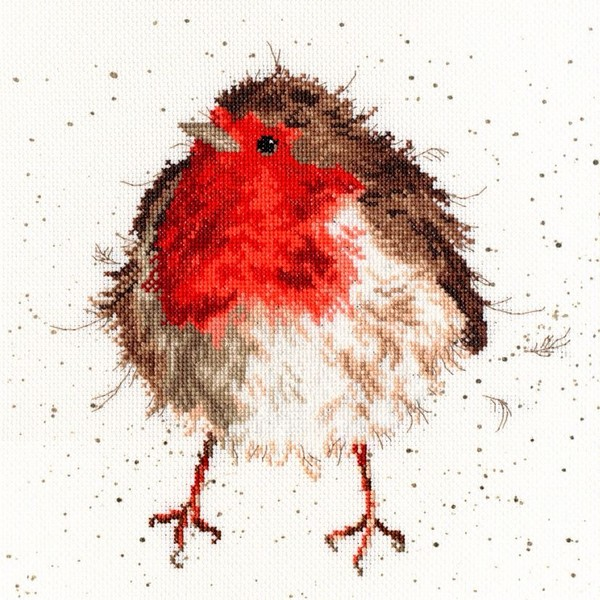 画像1: クロスステッチ キットJolly Robin - Hannah Dale -Bothy Threads (1)