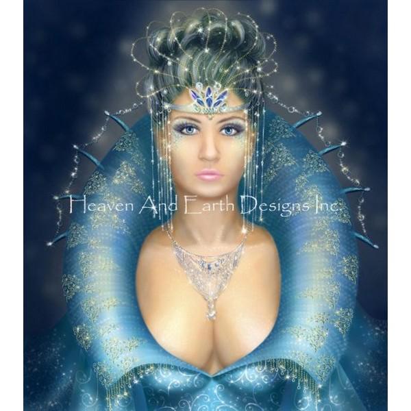 画像1: クロスステッチ図案Mini Queen-HAED(Heaven and Earth Designs) (1)