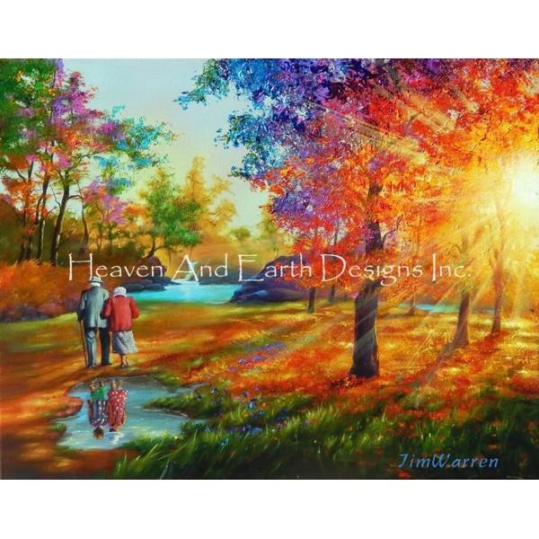 画像1: クロスステッチ図案  Childhood Sweethearts Max Colors-HAED(Heaven and Earth Designs) (1)