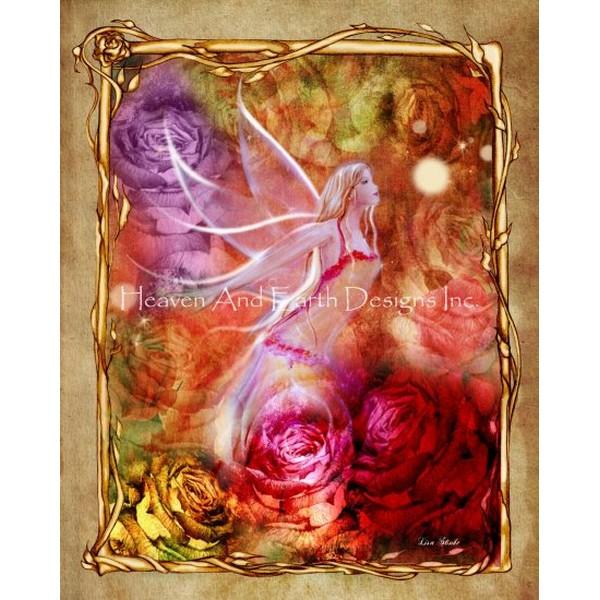 画像1: クロスステッチ図案  Rose Max Colors-HAED(Heaven and Earth Designs) (1)