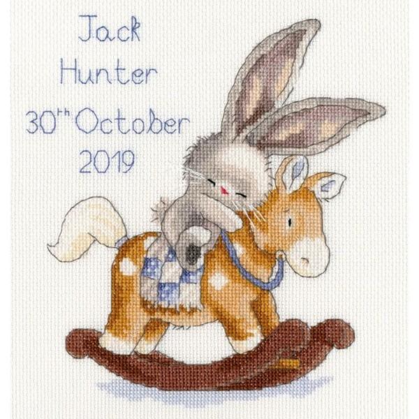 画像1: クロスステッチ キットRock a Bye Bunny Birth Sampler-Bothy Threads (1)