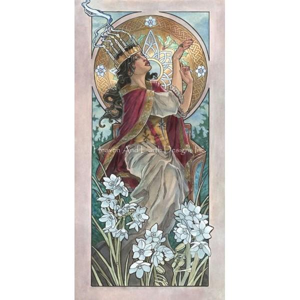 画像1: クロスステッチ図案  Lady of December - HAED(Heaven and Earth Designs) (1)