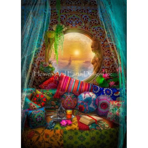 画像1: クロスステッチ図案 Oasis Request A Size Color Expansion-HAED(Heaven and Earth Designs) (1)