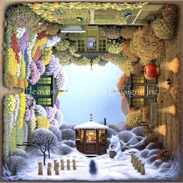 画像1: クロスステッチ図案Mini Four Seasons-HAED(Heaven and Earth Designs) (1)