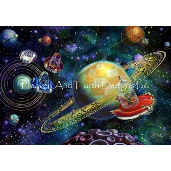 画像1: クロスステッチ図案 Alien Race - HAED(Heaven and Earth Designs) (1)