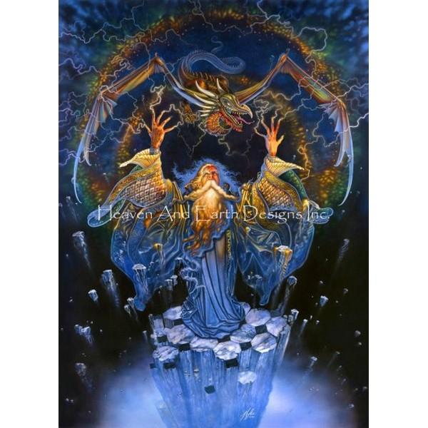 画像1: クロスステッチ キットDragon Storm 25ctルガナ -HAED(Heaven and Earth Designs) (1)