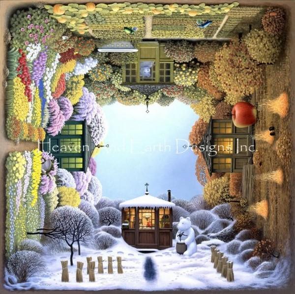 画像1: クロスステッチ図案 Mini Four Seasons Max Colors-HAED(Heaven and Earth Designs) (1)