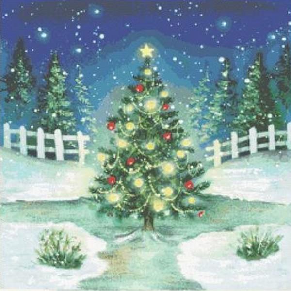 画像1: クロスステッチキット OH CHRISTMAS TREE-Mystic Stitch 18ct  (1)