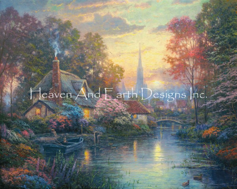 画像1: クロスステッチ図案 Nanette's Cottage Max Colors-HAED(Heaven and Earth Designs) (1)