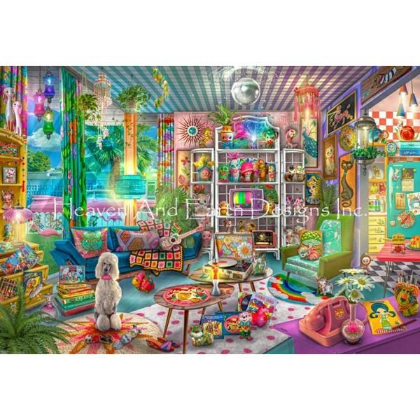 画像1: クロスステッチ図案Supersized Kitschy Cute Collector Max Colors-HAED(Heaven and Earth Designs) (1)
