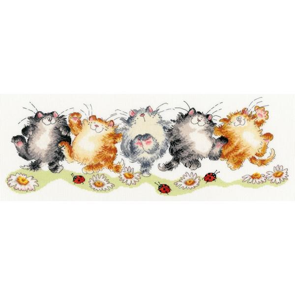 画像1: クロスステッチ キット The Cat Can - Margaret Sherry -Bothy Threads (1)