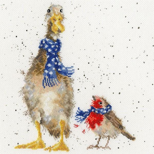 画像1: クロスステッチ キット Christmas Scarves Cross Stitch -Bothy Threads (1)