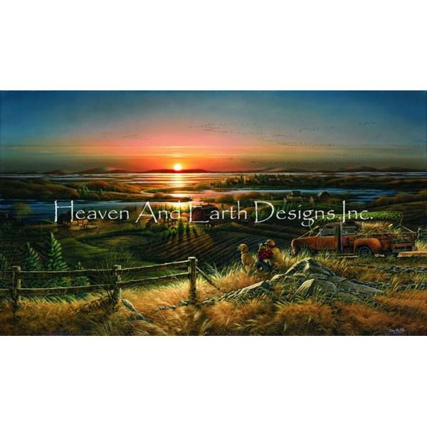 画像1: クロスステッチ図案 Best Friends TR- HAED(Heaven and Earth Designs) (1)