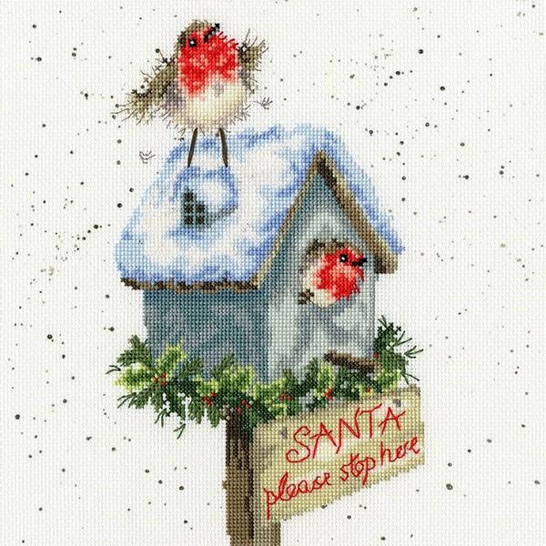画像1: クロスステッチ キット Santa Please Stop Here -Bothy Threads (1)
