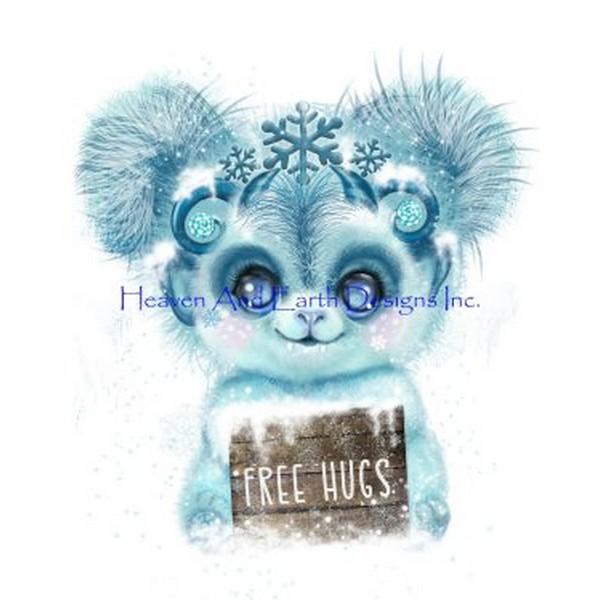 画像1: クロスステッチ図案 Winter Baby Yhetti- HAED(Heaven and Earth Designs) (1)