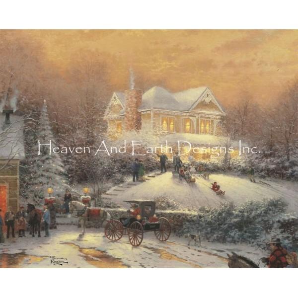 画像1: クロスステッチ キットVictorian Christmas II 25ctルガナ -HAED(Heaven and Earth Designs) (1)
