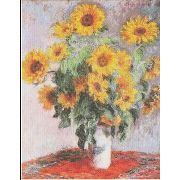 画像1: クロスステッチキット Bouquet Of Sunflowers - Monet(モネ)-Mystic Stitch 18ct  (1)