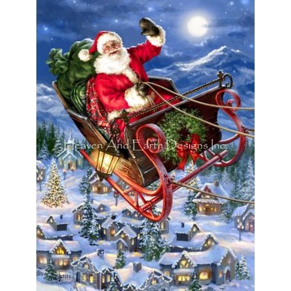 画像1: クロスステッチ図案Supersized Delivering Christmas Max Colors-HAED(Heaven and Earth Designs) (1)