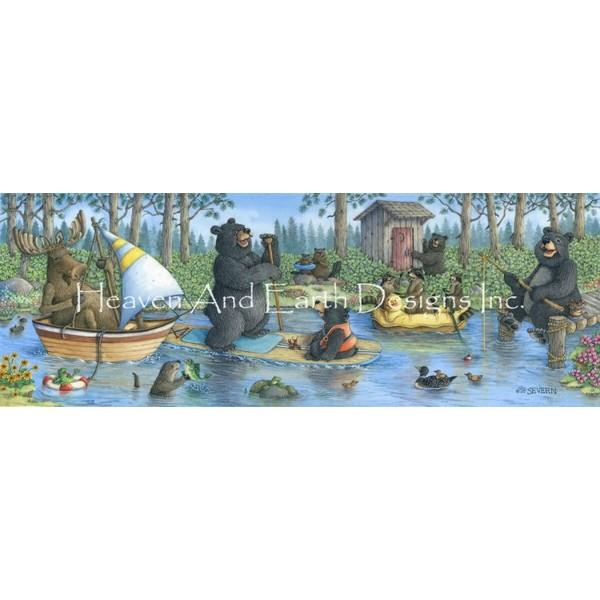 画像1: クロスステッチ図案 Critter Cove -  HAED(Heaven and Earth Designs) (1)