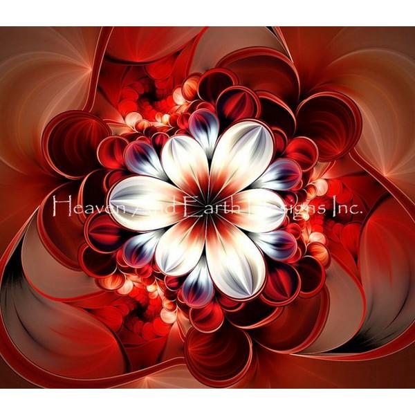 画像1: クロスステッチ図案  Red EW -  HAED(Heaven and Earth Designs) (1)