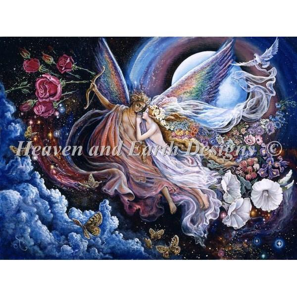画像1: クロスステッチ図案  Eros And Psyche JW-  HAED(Heaven and Earth Designs) (1)
