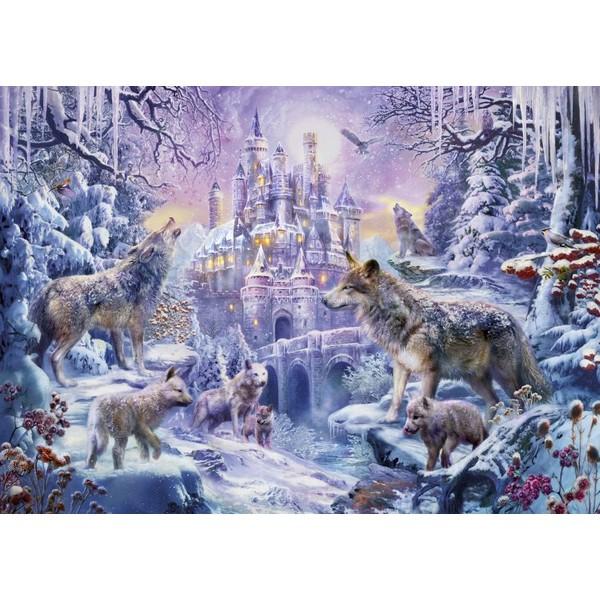 画像1: クロスステッチ キットCastle Wolves 25ctルガナ -HAED(Heaven and Earth Designs) (1)