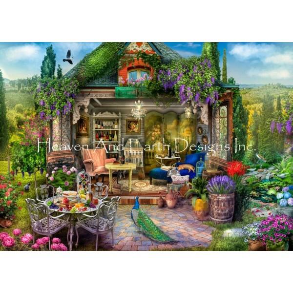 画像1: クロスステッチ キットWine Country Escape 25ctルガナ -HAED(Heaven and Earth Designs) (1)
