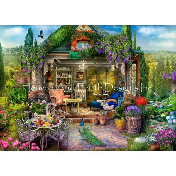 画像1: クロスステッチ キット Wine Country Escape Max Colors 25ct - HAED(Heaven and Earth Designs) (1)