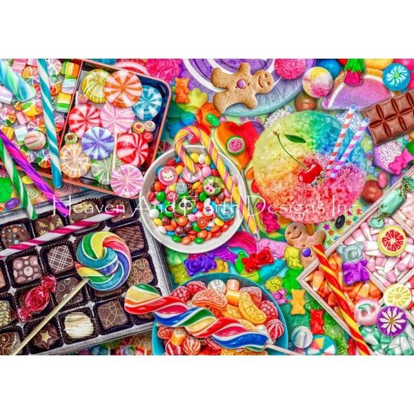 画像1: クロスステッチ キット Mini Candylicious 18ct -HAED(Heaven and Earth Designs) (1)