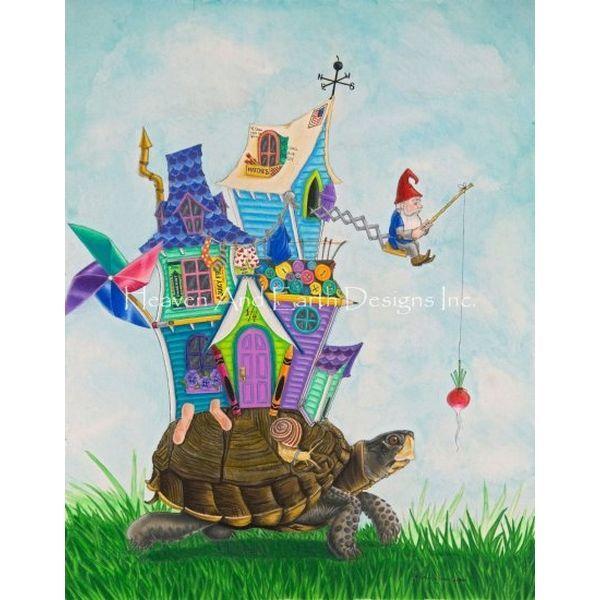 画像1: クロスステッチ図案  Mobile Gnome-  HAED(Heaven and Earth Designs) (1)