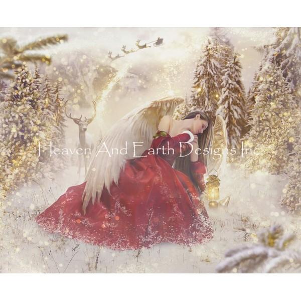 画像1: クロスステッチ キットChristmas Angel(限定版) 25ctルガナ -HAED(Heaven and Earth Designs) (1)